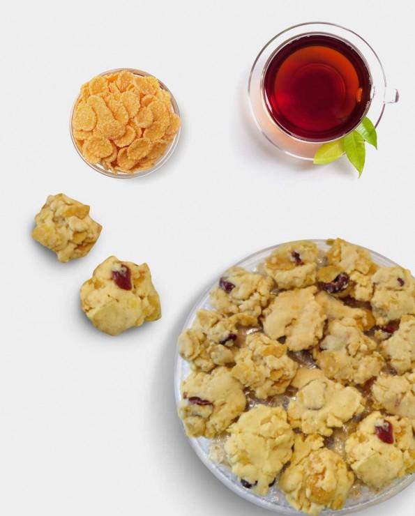 Vegetarian Cornflake Cookies 素玉米片饼